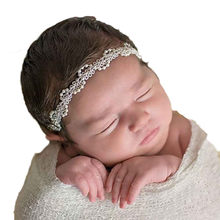 Fashion infant baby kids Girls headband luxury Pearl Hair Band Baby Head Wrap Band Accessories(China)