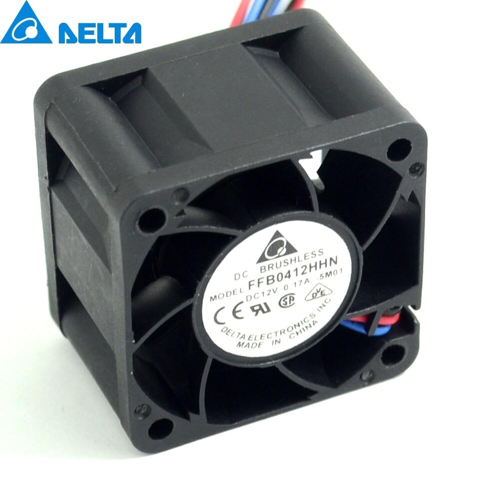 1pcs Original FFB0412HHN -5M01 4028 4cm 12V 0.17A 3 server cooling fan for Delta 40 * 40 * 28mm