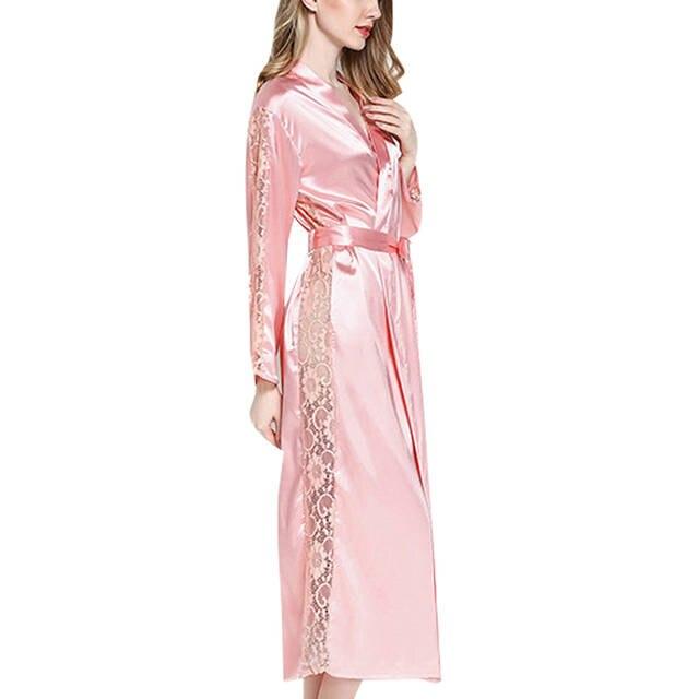 online shop satin bath bride robe kimono robes for women female silk