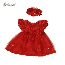 ARLONEET Flower Dress Girls Toddler Baby Princess Pageant Lace Dresses Kids Dress For Girls E30 Jan16