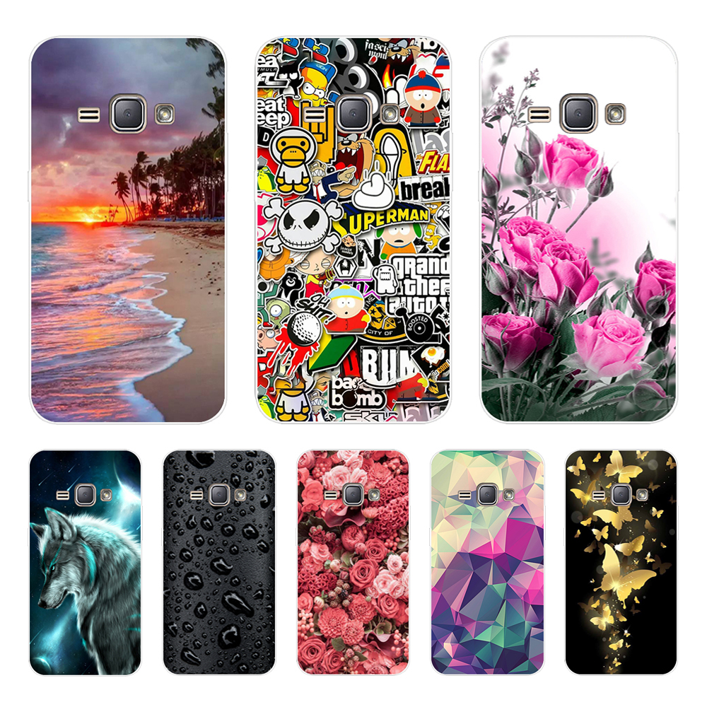 3D Flower Phone Cases For Samsung Galaxy J1 2016 Case Silicone Back Cover Case For Funda Samsung J1 2016 J120 J120F Cover Coque