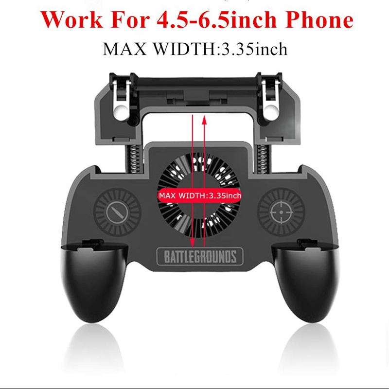 Image 2 - Gaming Grip With Portable Charger Cooling Fan,For Pubg Mobile Controller L1R1 Mobile Game Trigger Joystick For 4 6.5 inch Phon-in Gamepads from Consumer Electronics