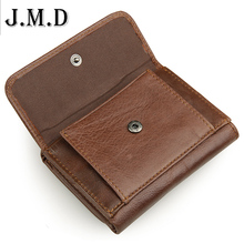 New arrival genuine leather men wallets Retro High-quality Multi card short wallet Men's Cow Leather RFID Card Holder