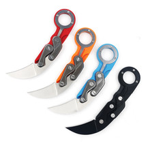 Folding knife Karambit 440C Stainless steel sharping camping survival tactical pocket claw knives hand tools CS GO