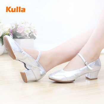 New Women Dance Shoes Spring Autumn Ladies Modern Salsa Tap Latin Dancing Shoes For Woman Girls Jazz Leather Square Dance Shoes