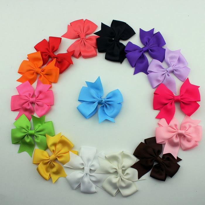 15pcs Kids Baby Girls Bebe Children Toddler DIY Grosgrain Headdress Bow Headwear Accessories Head Band Bowknot Cute Hair Wear