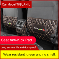 QHCP Leather Seat Back Anti Kick Mats Anti Child Kick Pad Covers Internal Accerossies Special For Volkswagen Tiguan L 2017 2018