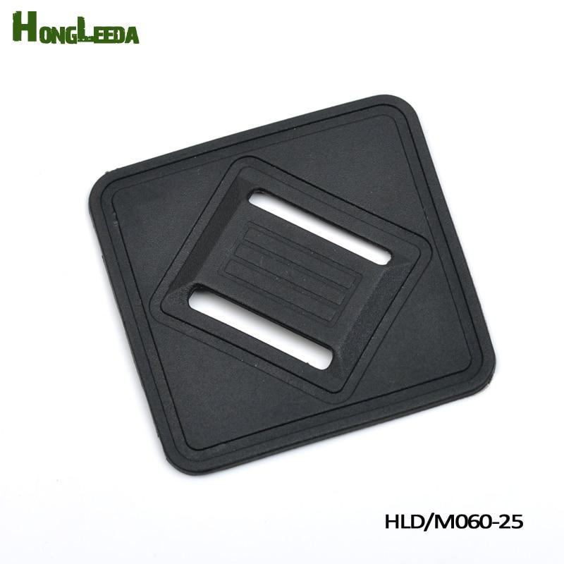 50pcs 1 25mm Black Plastic silicon shoulder strap pad rubber pad for backpack webbing strap Belt Webbing Patches HLD/M060-25