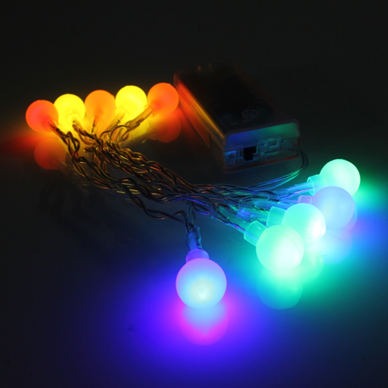 10 LED F5 Type Battery Powered Mini LED Operated Ball String Fairy Light Multicolor Party 3V