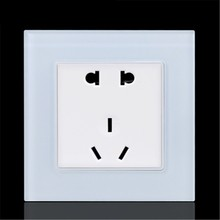Five Hole Socket Panel Dark Outfit Wall Household Socket Two Or Three Pole Switch 86 Type Socket 5 Hole Socket Panel