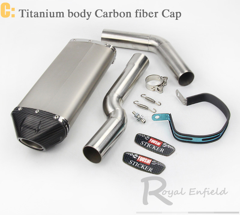 CBR600 CBR1000 Motorcycle exhaust link pipe for Honda CBR600rr f5 03-04 05-15 cbr1000 04-07 with Carbon fiber yoshimura sticker