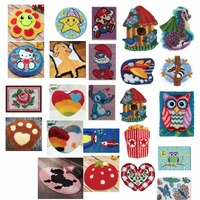 ANIMALS 9 shipping Latch Hook Kit Rug Cushion Pillow Mat DIY Craft Flower Cross Stitch Needlework Crocheting Rug Embroidery