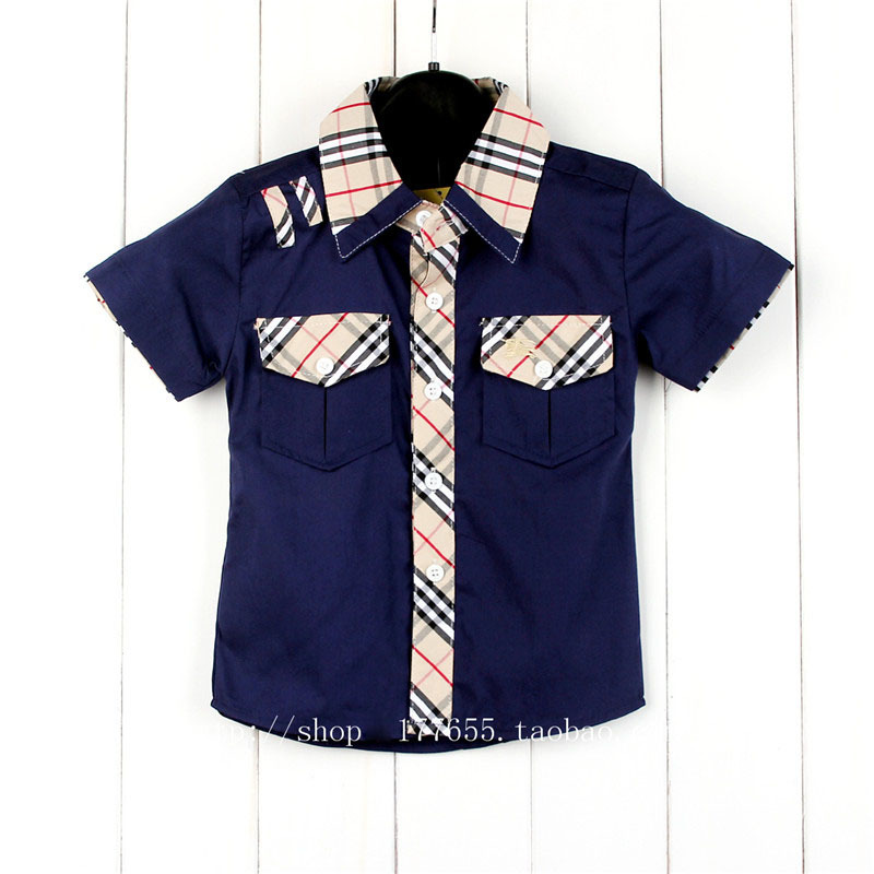 be596bd16e8f New summer casual short sleeved plaid baby boy shirt stitching brand design  top Children clothes-in Shirts from Mother & Kids on Aliexpress.com |  Alibaba ...