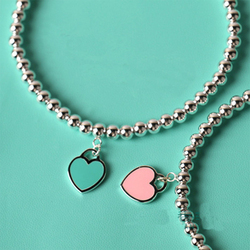 Fashion Heart Shaped Pendant Bracelet Ti Jewelry Bead Chain S925 Pendant Charm Brand Design For Women Logo Fashion Jewelry