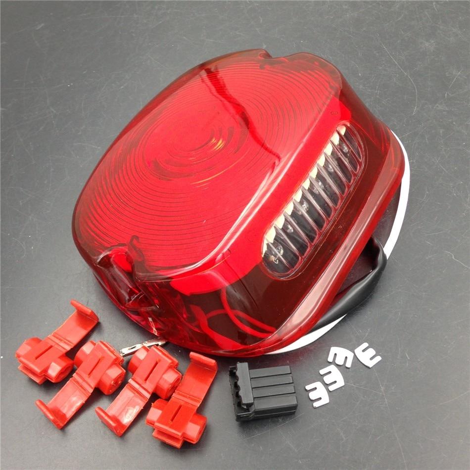 Послепродажного бесплатная доставка светодиодный красный хвост свет для Harley Дэвидсон Спортстер dyna с Софтейла-Роуд Король Электра скольжения толстый красный