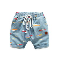Summer Casual Baby Boys Shorts High End Handsome Elastic Belt Kids Short Trouser All Match