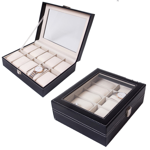2019 New 10 Grids Watch Case Watch Boxes Casing for Hours Sheath for Hours Box f