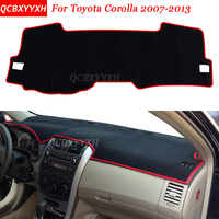 Car Styling Dashboard Avoid Light Pad Polyester For Toyota Corolla 2007 2013 Instrument Platform Desk Cover