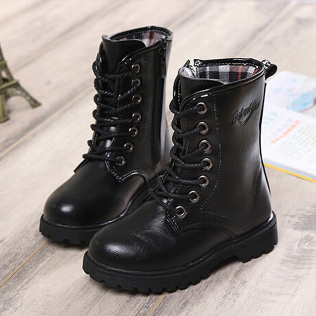 ff0b092f9 New brand Boys &Girls Combat Boots Children Shoes Girls Boots Boys Shoes  Martin Boots Shoes High Help Girls Shoes SRTX5018