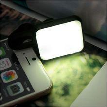 Portable Mini LED Flash Fill Selfie Light Lamp Outdoor Lighting For Phone Tablet black