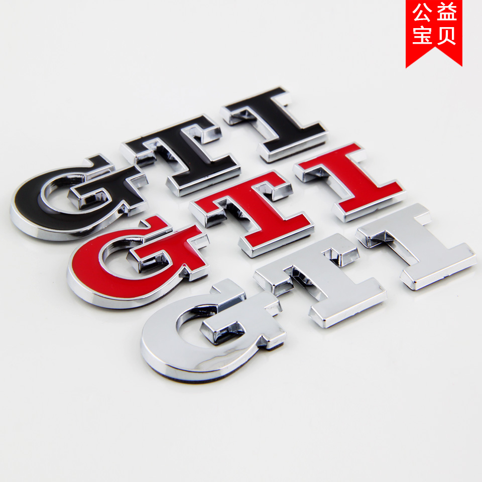 Car styling Truck Chrome GTI Emblem Decal Badge GTI Logo for VW Skoda Golf JETTA PASSAT MK4 MK5 car sticker car-styling 6pcs set car interior 3d dashboard panel console switch sticker for vw golf jetta mk6 gti