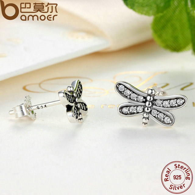 Sterling Silver Petite Dragonfly Stud Earrings