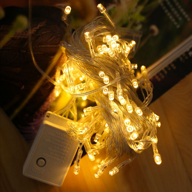 DVOLADOR 10M 100LED Xmas Lights 220V Christmas Holiday Light Outdoor Fairy Lights Waterproof For Party Wedding Garden Decorat