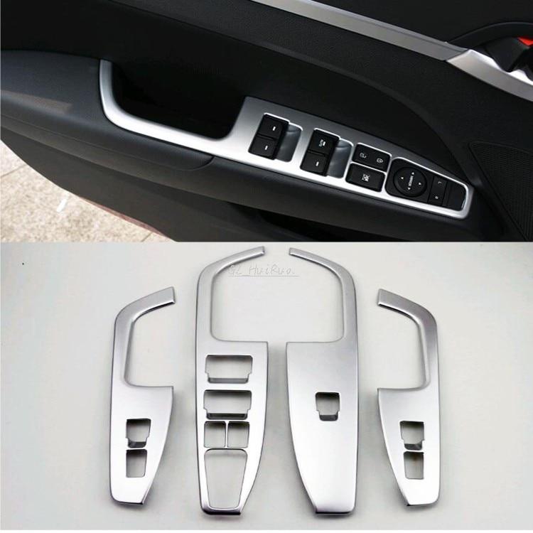 Matt Interior Door Cover Armrest Trim 4pcs For Hyundai Elantra Avante 2016 2017 nitro triple chrome plated abs mirror 4 door handle cover combo