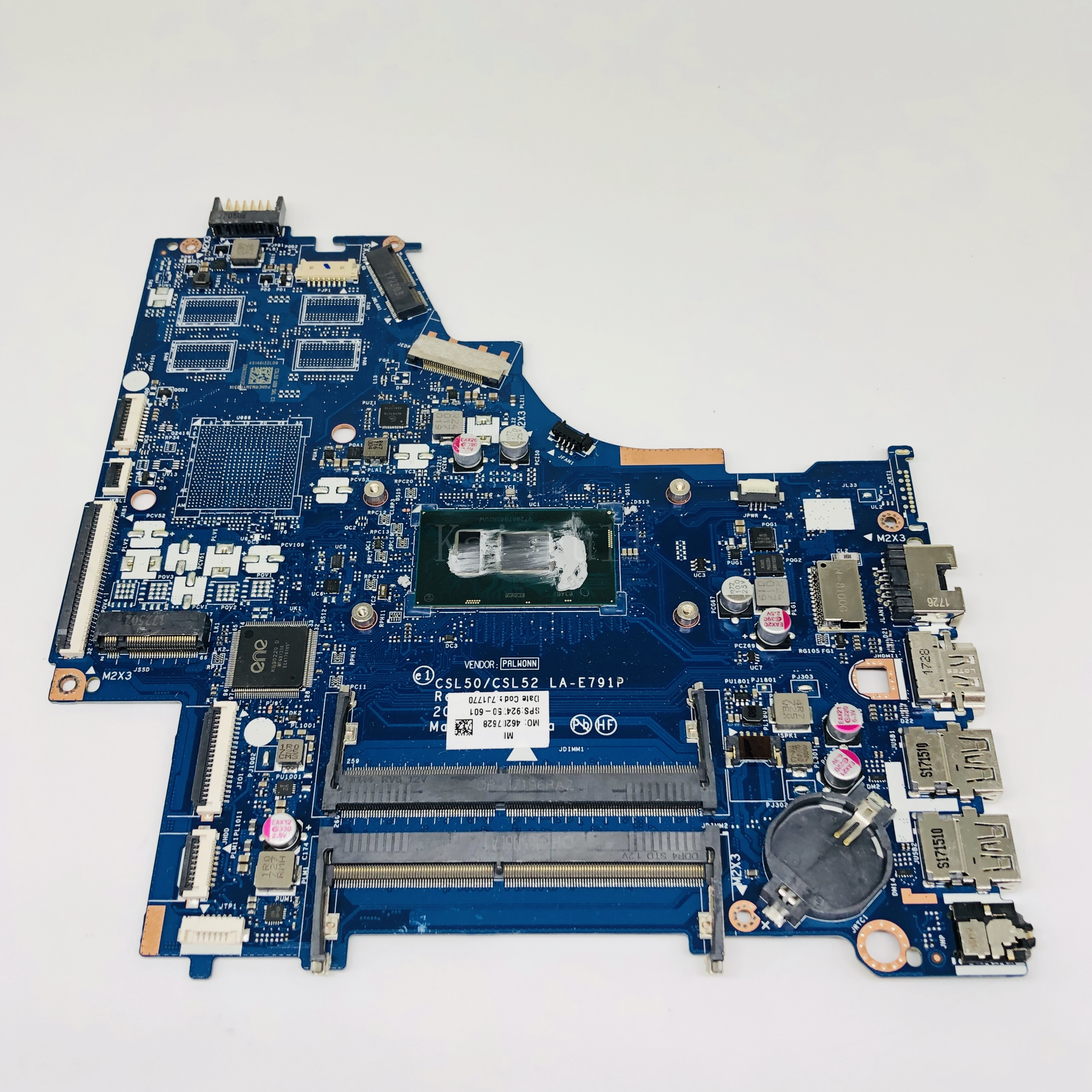 FOR <font><b>HP</b></font> 250 <font><b>G6</b></font> 15-BS Series Laptop <font><b>Motherboard</b></font> 924750-601 CSL50/CSL52 LA-E791P With SR2UW i3-6006u DDR4 MB 100% Tested Fast Ship image