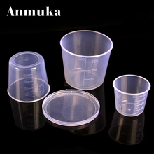 Anmuka 3pcs/set Plastic measuring cup glass Small piece set water measure cover fishing supplies lure box