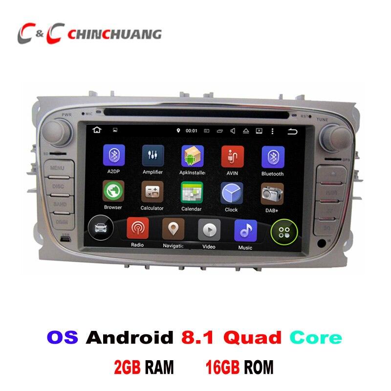 Android 8.1 lecteur DVD de voiture GPS pour Ford Focus Mondeo Kuga Galaxy avec Radio miroir lien Wifi Bluetooth USB DVR, prise en charge DAB + OBD
