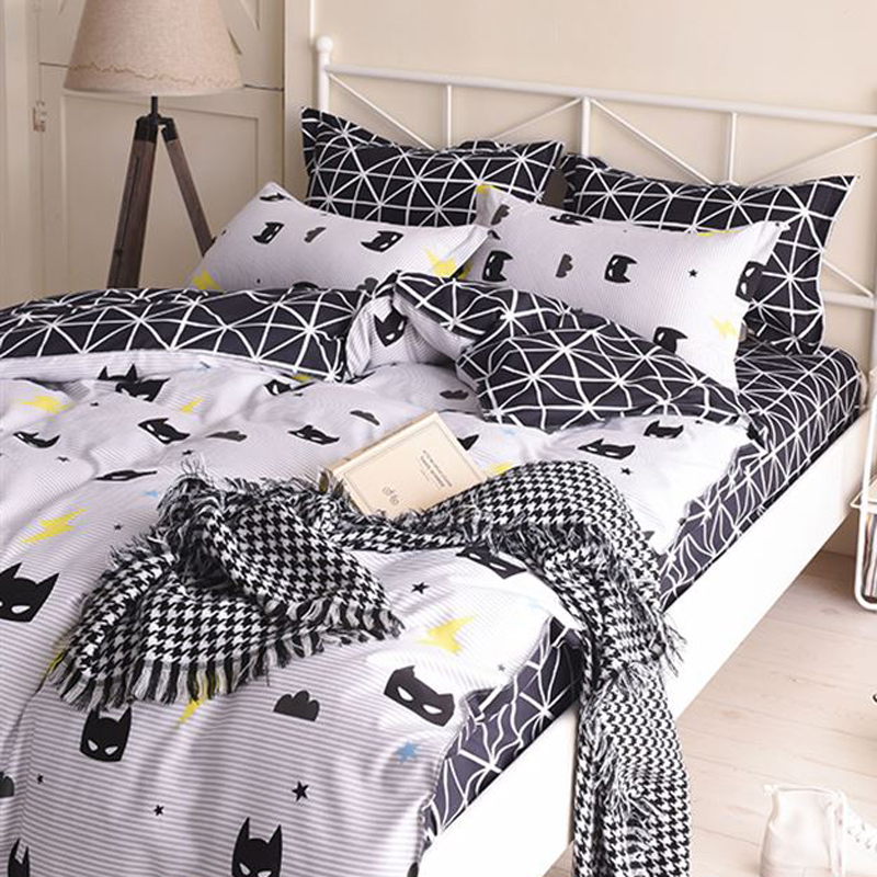 Cartoon Kids Bedding Sets Russia Single Twin Queen Size boy Child baby Duvet Cover Set Sheet Set <font><b>140*200</b></font> bed linen image