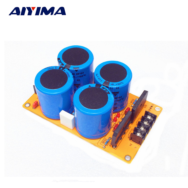 Aiyima Single Power Rectifier Filter Fever Capacitor Filter Assembled Power Amplifier Board Audio Rectifier Power Supply цена 2017