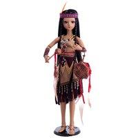 Princess Anna bjd doll sd 60 cm 1/3 native American indian baby reborn doll tan girl toys collection