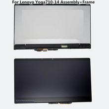 (with Bezel) 14 inch For Lenovo Yoga710-14 Yoga 710 YOGA 710-14IKB LCD Touch Screen Assembly