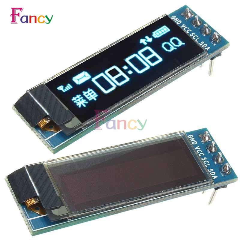 0.91 Inch 128x32 IIC I2C Blue OLED LCD Display DIY Module SSD1306 Driver IC DC 3.3V 5V For Arduino PIC