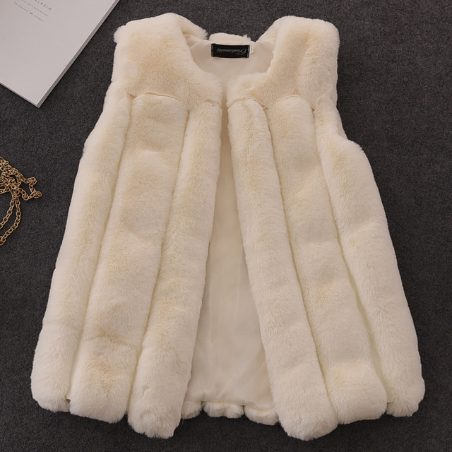 1681c94af New Fashion Winter Girl furry Coat Children Girls Faux Fur Coat ...
