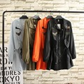 3XL Новый 2016 Плюс Размер Пальто Для Женщин Длинные пальто Регулируемый Талия Длинным Рукавом Осень Пальто Тренч Женщины Армия зеленый/Черный