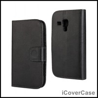 PU Leather Wallet Cover Case For Samsung Galaxy Trend Plus S7580 Galaxy S Duos 2 S7582