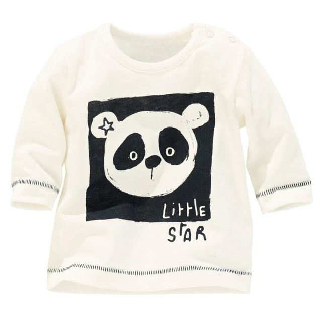 Crianças de algodão manga comprida camisas, Bonito dos desenhos animados t-shirt, Meninos meninas panda padrão impresso t - shirt crianças usam