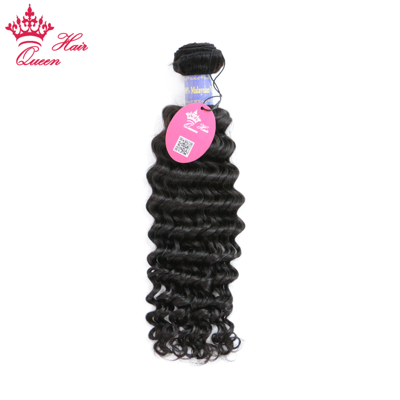 Queen Hair Products Malaysian Hair 100% Deep Wave Weave Human Hair Bundles Natural Color Remy Hair Extensions