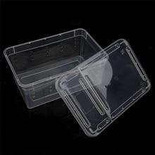 Reptile Terrarium  Ideal Habitat Plastic Transparent Reptiles Living Box for Arvae Spiders Ants Scorpions Chameleon Lizard