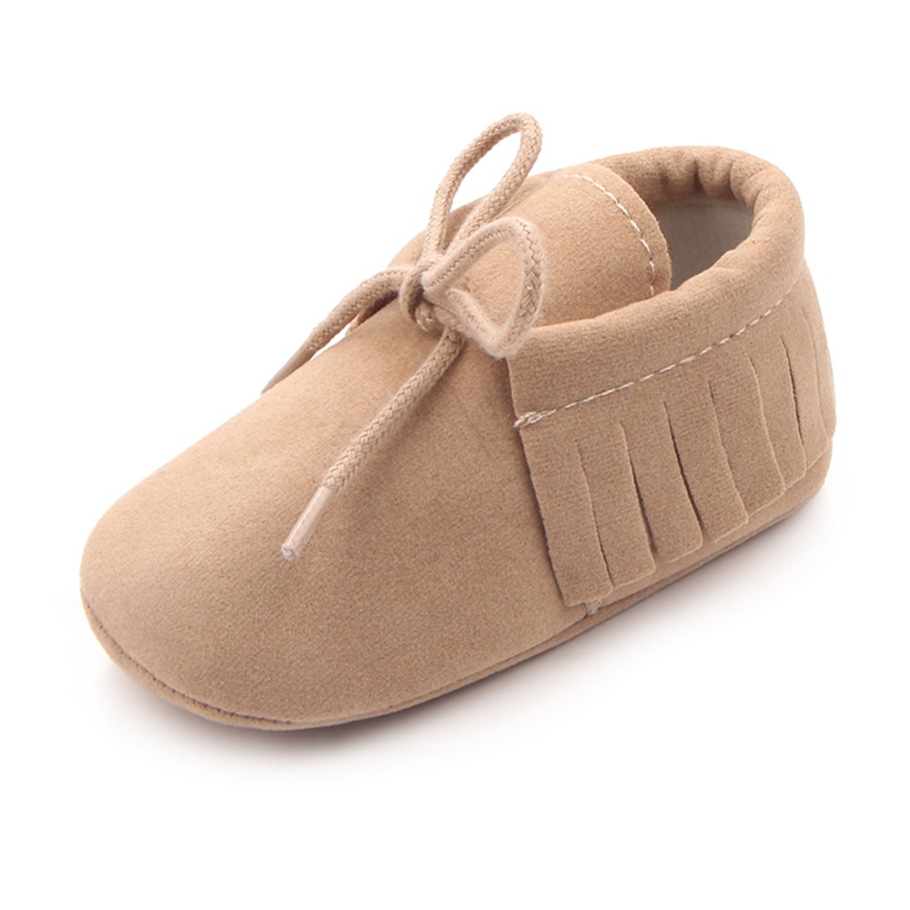 Hot Leather PU Suede New Footwear Soft Soled Non-slip  Tassel Toddler Shoes
