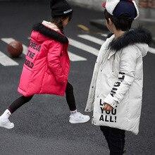 Мальчики и девочки детской одежды вниз середина большой моды детская одежда вниз волосы воротник