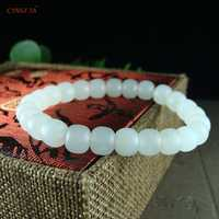 Mutton-fat Jade Certified Natural Hetian White Jade Nephrite Lucky Jade Bracelets Bangles White High Quality Wonderful Gifts