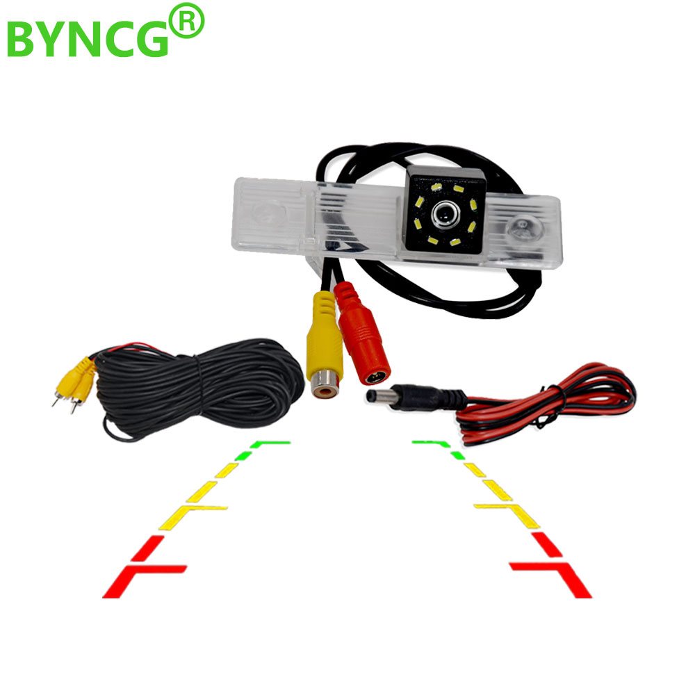 BYNCG 8LED Car Reverse Backup Rear View Camera Waterproof Parking For CHEVROLET EPICA LOVA AVEO CAPTIVA CRUZE LACETTI