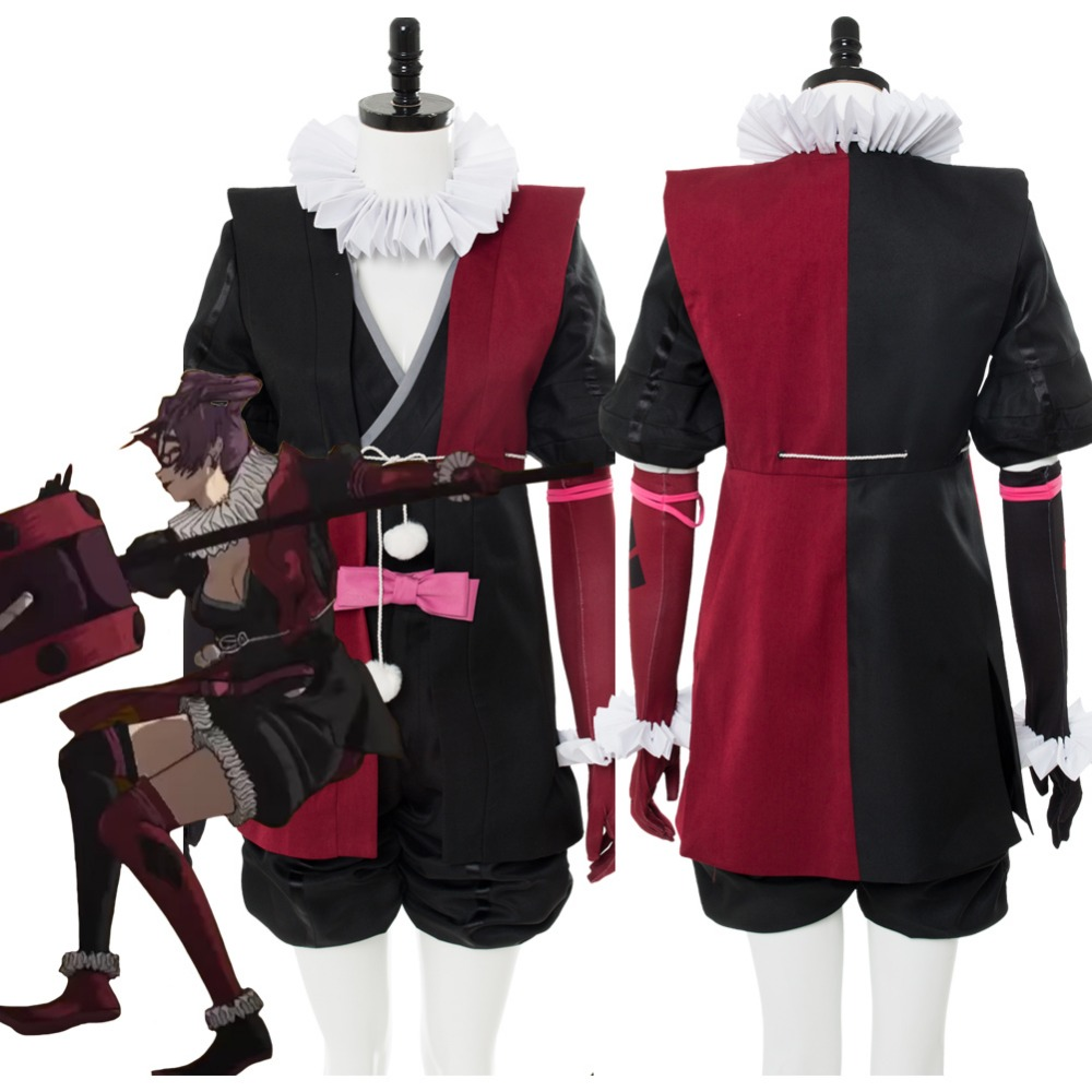 2018 Cosplay Costume Batman Ninja Harley Quinn Cosplay Costume Japanese Style Adult Women Cosplay Costumes chic buttoned skinny women s police cosplay costume