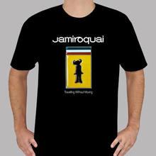 dba7c9cc9 Nova Jamiroquai Jay Kay Cantor de Soul Funk Preto dos homens T-Shirt  Tamanho S A 3XL Camiseta Impressão Harajuku Homens de Manga.