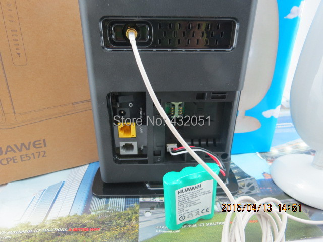 Huawei E5172 150Mbps 4G TDD LTE CPE Router +1000mAh battery+22dbi SMA Antenna mycobacteremia and hiv infection