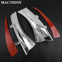 Motorcycle Heat Shield Air Deflectors Chrome Aluminum For Victory Cross Country Tour Magnum Roads Hard-Ball